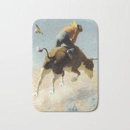 "William Leigh Western Art ""A Wild Texas Steer"" Bath Mat"