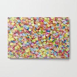 Rainbow Candy Sprinkles Art Metal Print