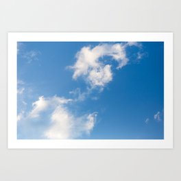 Cloud in a Blue Sky Art Print