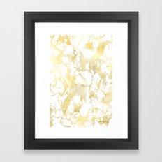 Marble gold Framed Art Print