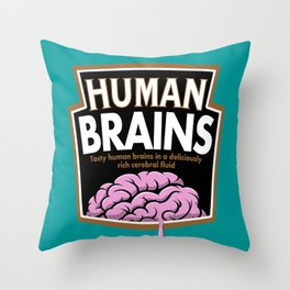 Human Brains Throw Pillow