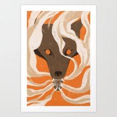 Teeth & Smoke Art Print