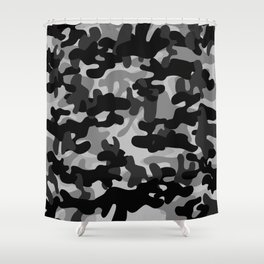 Camouflage (Gray) Shower Curtain