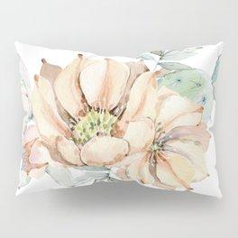 Coral Desert Roses Pillow Sham