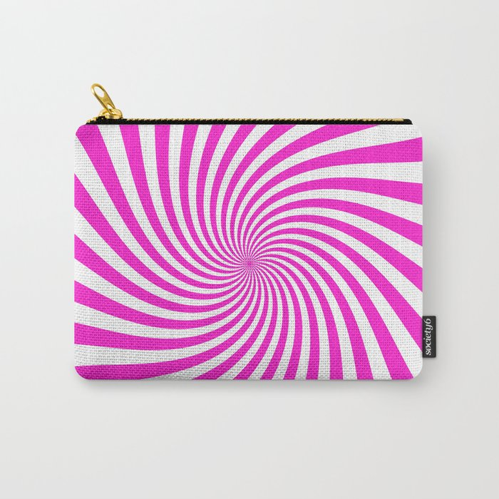 Swirl (Hot Magenta/White) Carry-All Pouch