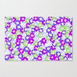 Morning Glory - Violet Multi Canvas Print