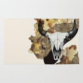Buffalo Skull by carographic Rug
