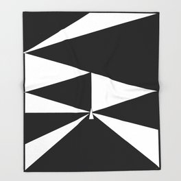 Triangles in Black and White Throw Blanket