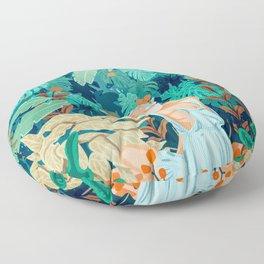 Backyard #illustration #painting Floor Pillow