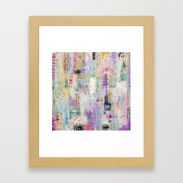 Whisper Truth Original Painting by Flora Bowley Framed Art Print