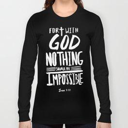Luke 1: 37 x Mint Long Sleeve T-shirt