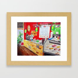 Counter at Rhino Coffee- 9 November, 2014 Framed Art Print