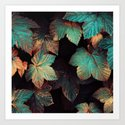 Copper And Teal Leaves by elisabethfredriksson