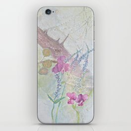 Sweet Peas and Spider Webs iPhone Skin