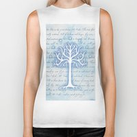 gondor Biker Tanks featuring Tree of Gondor by JadeJonesArt