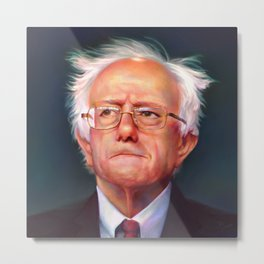 Bernie Sanders 46th President of the United States    UNOFFICIAL PRESIDENTIAL PORTRAIT PAINTING Metal Print