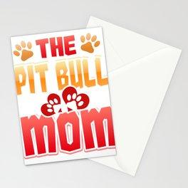 Dog Lover Pit Bull Mom Pitbull Dog Mom Stationery Cards
