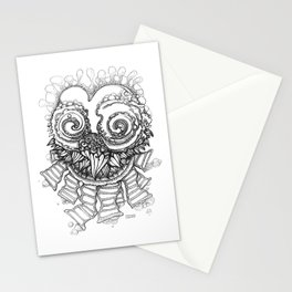 Space Owl Stationery Cards