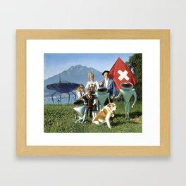 Greetings From Switzerland Framed Art Print