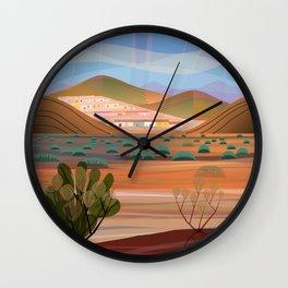 Copper Town (Square) Wall Clock