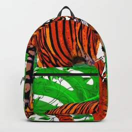 TIGERS AND PALMS BOTANNICAL INSPIRATION Backpack