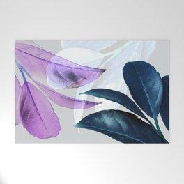 Blue Violet Leaves Welcome Mat