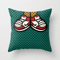 air jordan Throw Pillows featuring AIR JORDAN 1 by originalitypieces