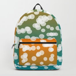 Orange & Green: Blurry Lights Backpack