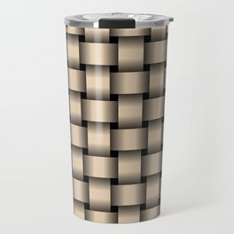 Bisque Brown Weave Travel Mug
