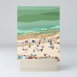 Geometric Brighton Beach bathing boxes, Melbourne, Australia Mini Art Print