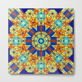 A touch of Escher, geometric pattern kaleidoscope Metal Print