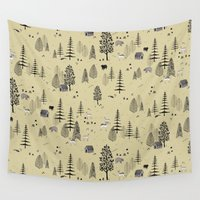forrest Wall Tapestries featuring Forrest Pattern by Mai Ly Degnan