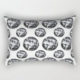 Moon in Watercolor by #MahsaWatercolor Rectangular Pillow