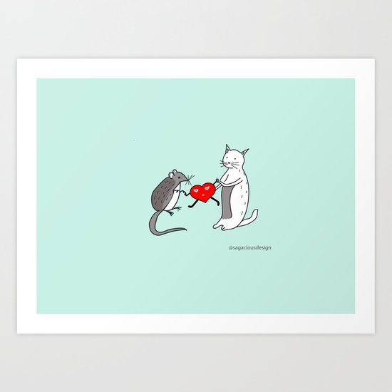 Your heart is mine Art Print