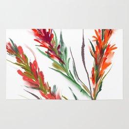 Indian paintbrush watercolor Rug