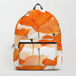 Orange Poppies On A White Background #decor #society6 #buyart Backpack