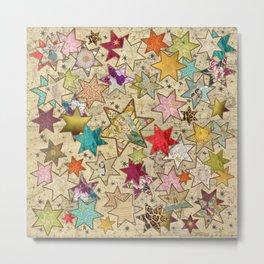 Vintage nail stars on Constellation Metal Print