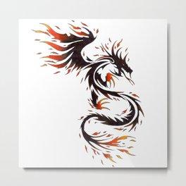 Spirit of Fire Dragon Metal Print