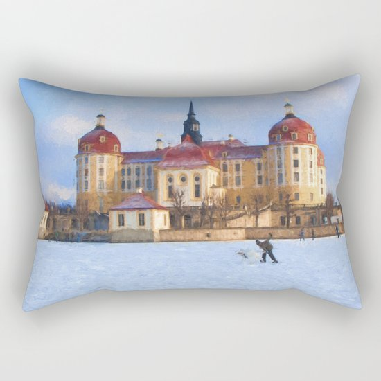 Cinderella´s fairytale castle Rectangular Pillow