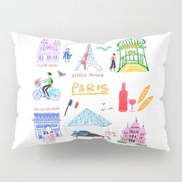 Colorful Paris Pillow Sham