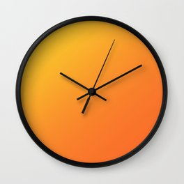 Yellow and Orange Gradient Wall Clock