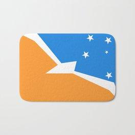 Tierra del Fuego Argentina flag Bath Mat