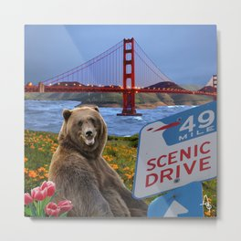 Scenic Drive Metal Print