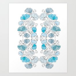 blue perversion Art Print