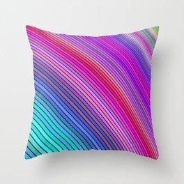 Cold rainbow stripes Throw Pillow