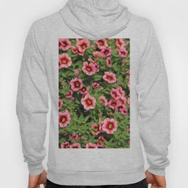 Red Pink Flowers Hoody