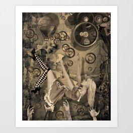 Alice in Steampunk land Art Print