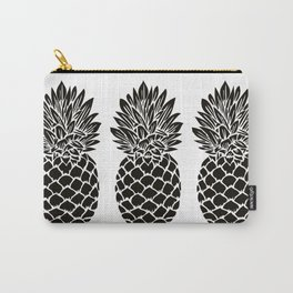 Pineapple Trio | Black and White Carry-All Pouch
