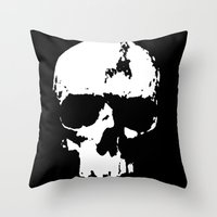 karl Throw Pillows featuring Kranky Karl by Kurt Mann