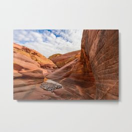 After The Rain - 6, Valley_of_Fire Canyon, Nevada Metal Print